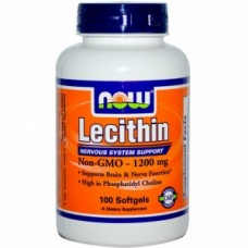 витамины NOW  Lecithin 1200mg (100softgels)